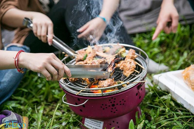 Kết quả hình ảnh cho bếp nướng than hoa không khói bn300